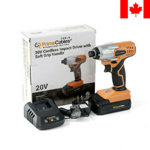 PrimeCables® 20V Cordless Impact Driver with Soft Grip Handle