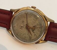 VINTAGE RARE SWISS MADE EBEL TRIPLE DATE MOON FACE SIZE 35mm WRISTWATCH