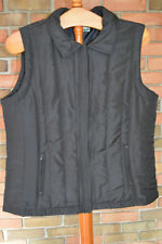 Woman's Mountain Lake Black Vest Coat in Size Medium EX Condition