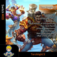 Torchlight 3(Swicth Mod)-Max Money/Level/Discontinuity/SP/Resource/Legenday Bag