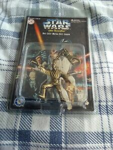 *RARE* UNOPENED 1996 STAR WARS Luke Skywalker CAST METAL KEY CHAIN Placo box 4
