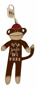 Sock Monkey Sign It's A Jungle In Here by Primitives by Kathy