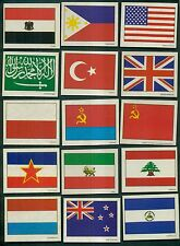 1977 Sunbeam Bread United Nations Flags Stickers Complete Set of 30