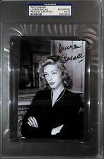 Lauren Bacall Signed 4x6 Photo Psa/Dna Coa Slab Autograph Picture The Big Sleep
