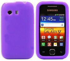 New Design Silicone Case Cover Skin for Samsung Galaxy Y S5360 - Purple
