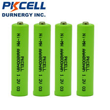 4 Ni-MH AAA Cordless Phone Batteries for Panasonic HHR-4DPA HHR-55AAABU PKCELL