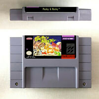 Pocky & Rocky All Series Game Cartridge Console US Version Nintendo SNES 16 Bit
