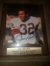 Jim Brown Autographed signed Plaque NFL Football Cleveland Browns 8x10 JSA NICE!