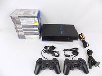 Ps2 Playstation 2 Bundle Fat Console + 2x Controllers + 15 Great Games