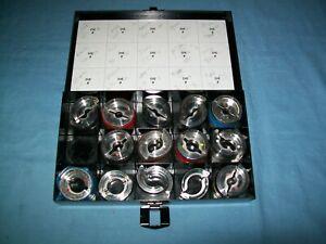 New** Burndy Y35 UDIEKITCU Crimper 14pc U crimp 6 AWG - 750 kcmil Die Set Copper