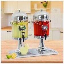 2 Tanks 16L Commercial 8L Restaurant Buffet  Drink Beverage Juice Dispenser