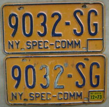 1974-86 NEW YORK SPECIAL COMMERCIAL LICENSE PLATE PAIR.# 9032-SG