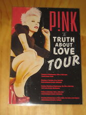 PINK - THE TRUTH ABOUT LOVE AUSTRALIAN  TOUR - LAMINATED PROMO TOUR POSTER