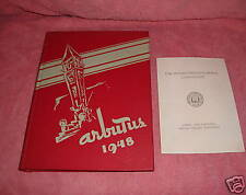 INDIANA UNIVERSITY ARBUTUS 1948 YEARBOOK + COMMENCEMENT