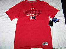 Nike DriFit Men's Ole Miss Rebels Baseball Shirt Nwt Small