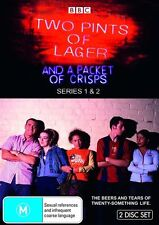 Two Pints Of Lager And A Packet Of Crisps : Series 1-2 (DVD, 2009, 2-Disc Set) *