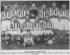 WEST BROMWICH ALBION FOOTBALL TEAM PHOTO>1954-55 SEASON
