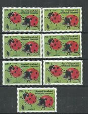 1996- Tunisia- Insects: Ladybird - 7 stamps without gum