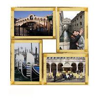 4er Collage - Shinsuke® - Breda Multishot gold MDF-Rahmen - Größe ca. 29x29 cm