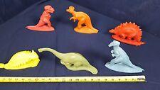 Lot 6 Dinosaur Sinclair 1964 World's Fair Dinoland Plastic Misspelling Near Mint