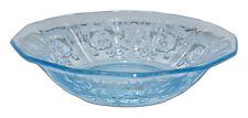 "Fostoria Versailles Blue #2375 - 5 1/4"" Small Berry / Fruit Bowl"
