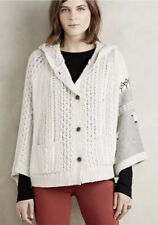 Rosie Niera Anthropologie Ranstead Sheep Poncho Hoodie Cable Sweater Sz XS/S