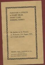 Dorking. Chart Mead, Chart Lane. 1939  Furniture & Effects  Miss E Fisher b2.277