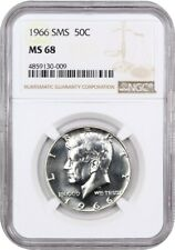 1966 50c NGC MS68 (Special Mint Set) Kennedy Half Dollar