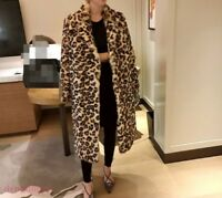 Leopard Print Women Real Fox Fur coat  Jacket Big Fur Collar Thick winter parkas