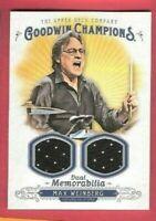 MAX WEINBERG WORN RELIC DUAL MEMORABILIA CARD GOODWIN BRUCE SPRINGSTEEN DRUMMER