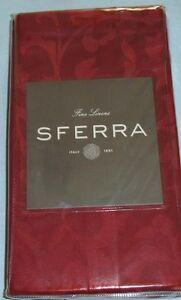 "Sferra Orchard Dinner Napkins Cinnabar Red SET/4 Vine Woven Jacquard 22x22"" New"