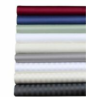 1000 TC Egyptian Cotton Bedding Item Fitted/Flat/Pillow Color Stripe All UK Size