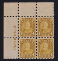 Canada Sc #168 (19300 4c Arch Issue PLATE BLOCK Mint VF NH