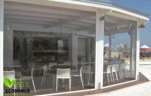 Tenda antivento Cristal Easy in PVC Trasparente per chiusura Balconi Verande Bar