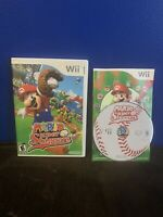 Mario Super Sluggers (Nintendo Wii, 2008) Complete Tested and Working