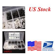 (US Stock)146 Push Pin Mixed Door Trim Panel Clip Fastener Bumper Rivet Retainer
