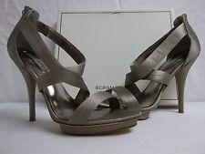 BCBG Max Azria Size 10 M Serena Mushroom Satin Open Toe Heels New Womens Shoes