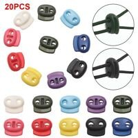 10 x 5mm Hole Stopper Cord Lock Bean Toggle Clips Apparel Shoelace Lanyard ah8