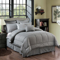 10 Piece Comforter Bedding W/Sheet Set Decorative Pillows Shams