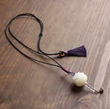 Cuerda Natural Lotus con semillas de collar Amatista Bodhi Suerte Piedras Preciosas Perlas