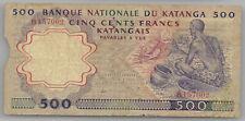 Katanga Belgian Congo 500 francs 1962