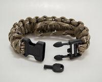 Military/Law Enforcement Adjustable Survival Paracord Bracelet w/Handcuff Key