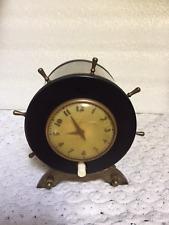 Vintage Park Sherman Ships Wheel Cigarette Dispenser Wind Up Clock- RARE- # L