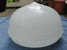 B Estate Antique Opaline Clam Broth Glass Large Fitted Lamp Shade