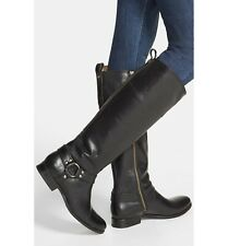 FRYE black leather MELISSA HARNESS RIDING BOOTS 7