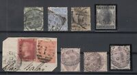 X2438/ GREAT BRITAIN – VICTORIA – 1862 / 1884 USED CLASSIC LOT – CV 775 $