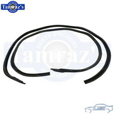65-66 GM B Body Roof Rail RoofRail Weatherstrip Seals 2 Door Hardtop SoffSeal