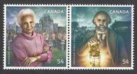 BLACK HISTORY of CANADA = Se-tenant pair MNH-VF Canada 2009 #2316a