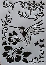 Plastic /PVC/Stencil/Multi/Floral/Corner/Border/Ornate/Bird/Design/Painting/Art