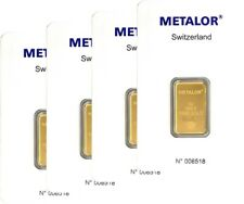 More details for 5g metalor gold bar - 999.9 pure 24k  - certified sealed with 1st class delivery